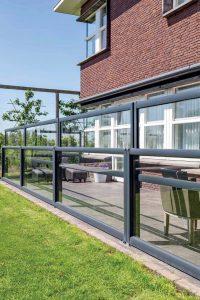 Windschutzwand Glas Terrasse